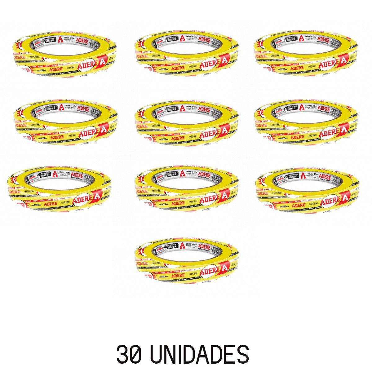 Fita Crepe Amarela P/ Pintura Automotiva 24x40 30 Unidades