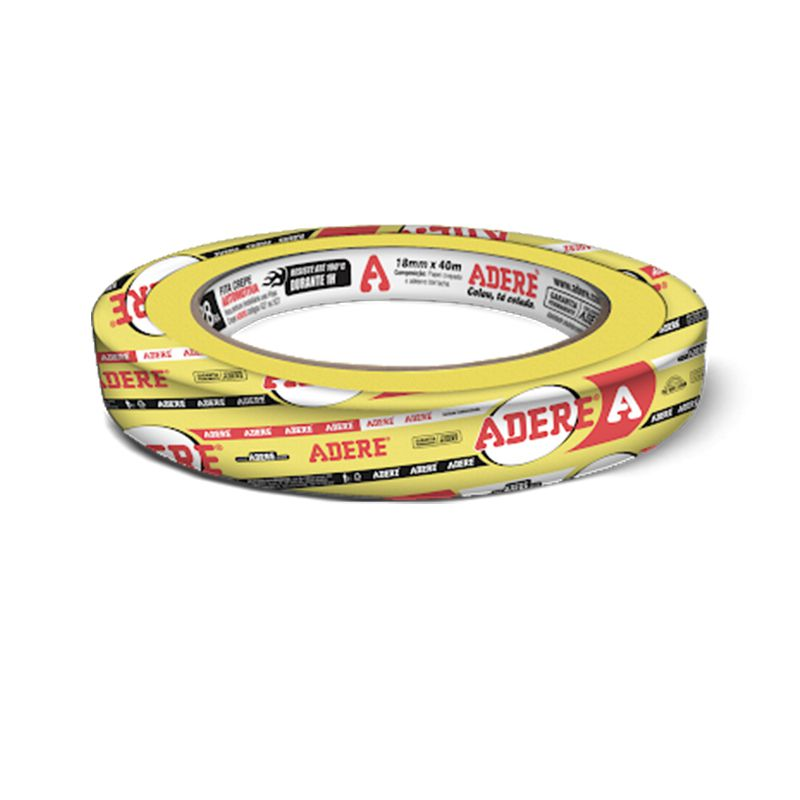 Fita Crepe Amarela P/ Pintura Automotiva Profissional Adere 18x40 - 40 unidades