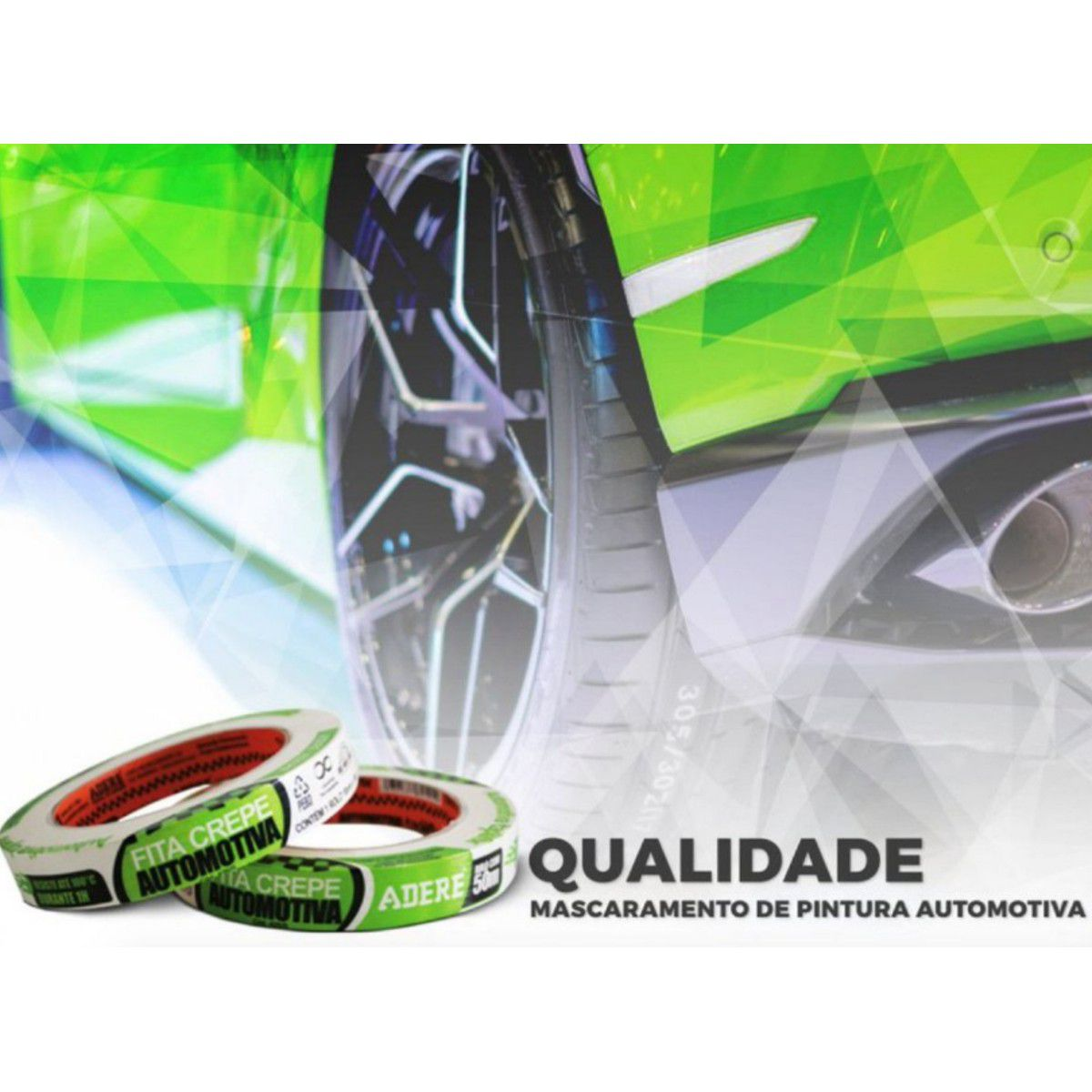 Fita Crepe Automotiva 18mmx50m Adere (profissional)