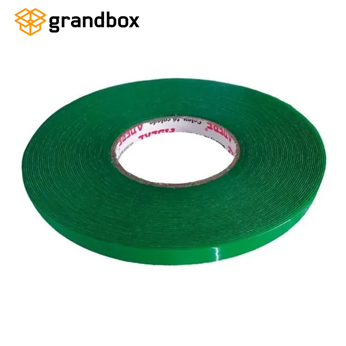 Fita Dupla Face Acrílica Verde 09mm X 20m Adere