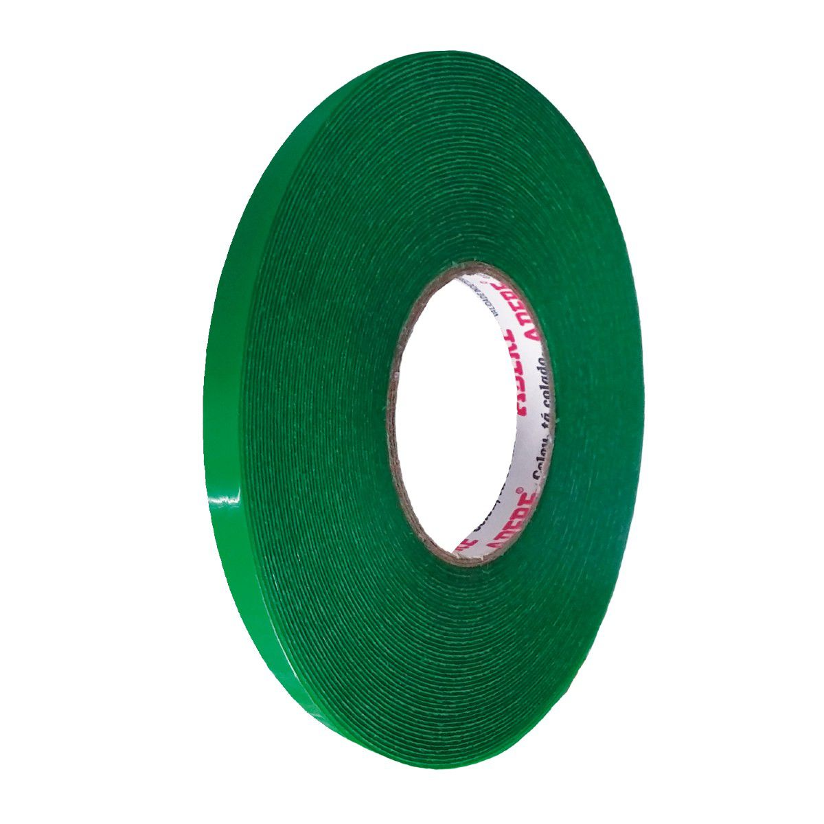 Fita Dupla Face Acrílica Verde 12mm X 20m Adere