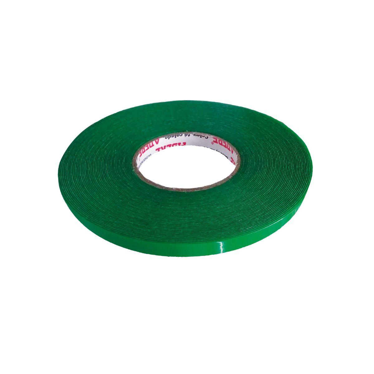 Fita Dupla Face Acrílica Verde 19mm X 20m Adere