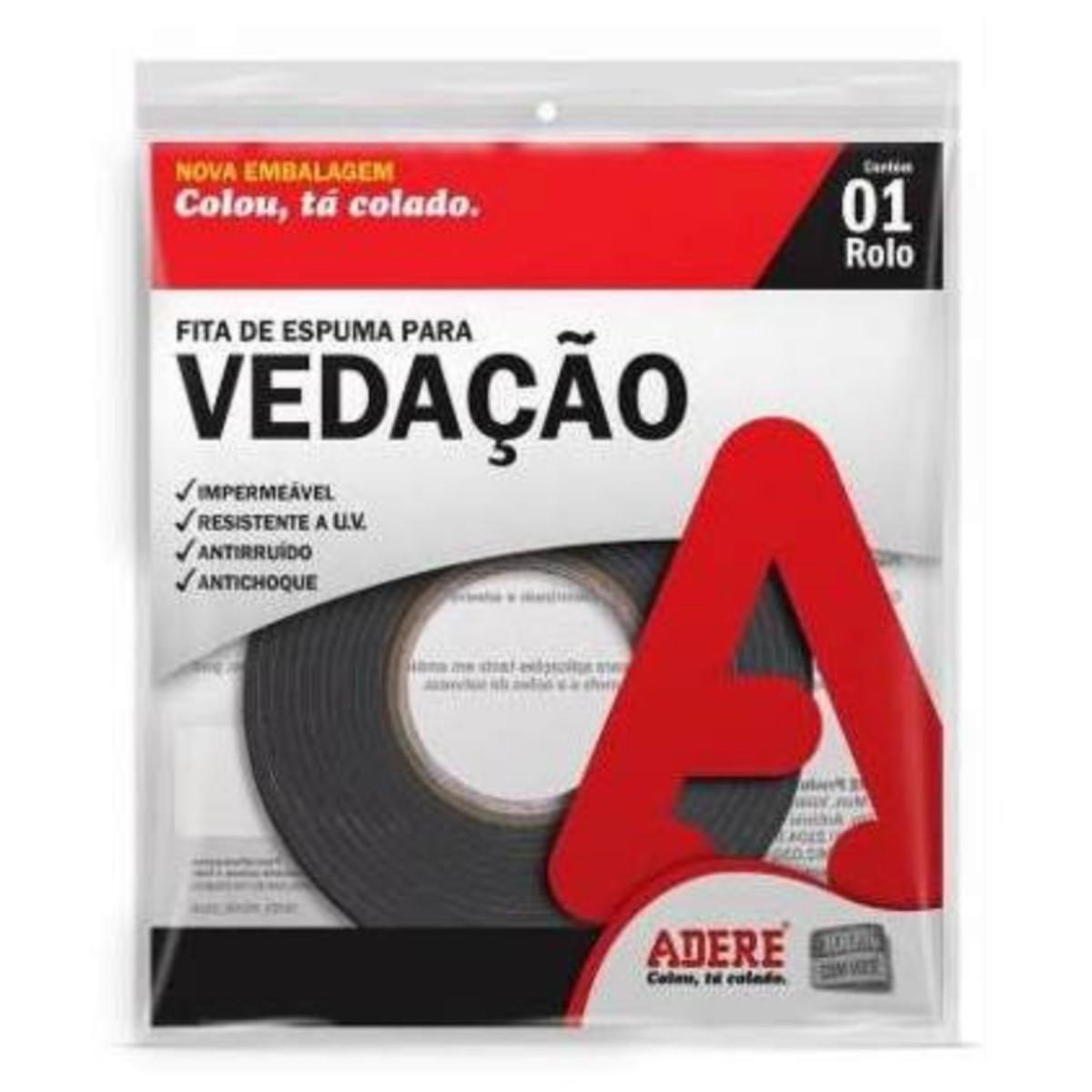 Fita Espuma Vedação 19mmx5m Autoadesiva 04 Unid E104s Adere