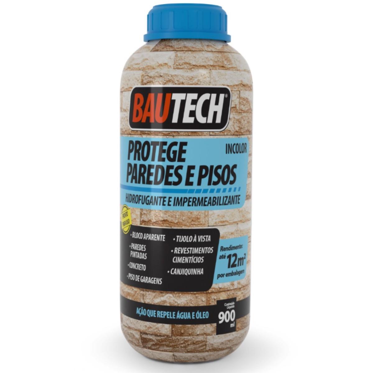 Hidrofugante Impermeabilizante - Paredes/Pisos Bautech 900ml