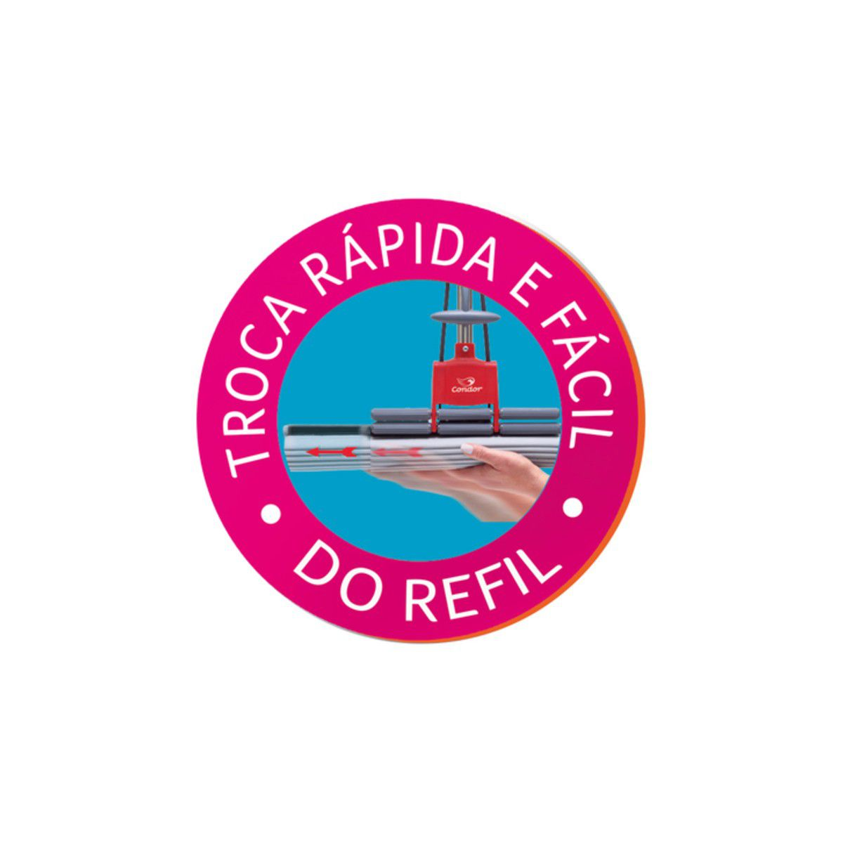 Kit 10 Refil Para Rodo Magico MOP de PVA Condor