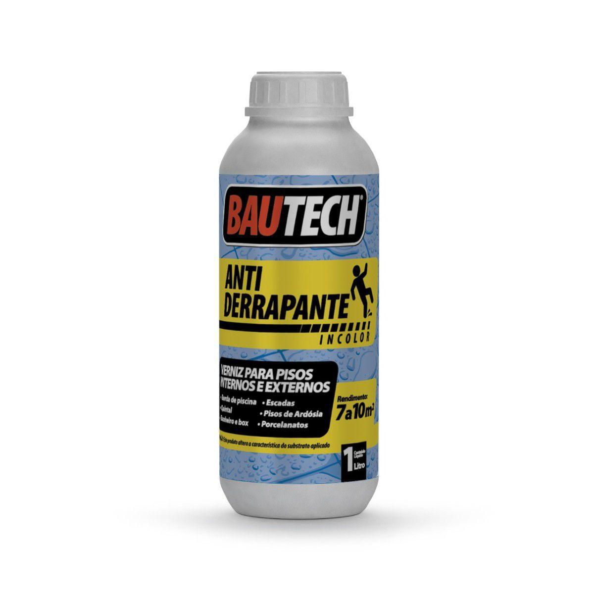 Kit  2 Verniz Antiderrapante Bautech 1L