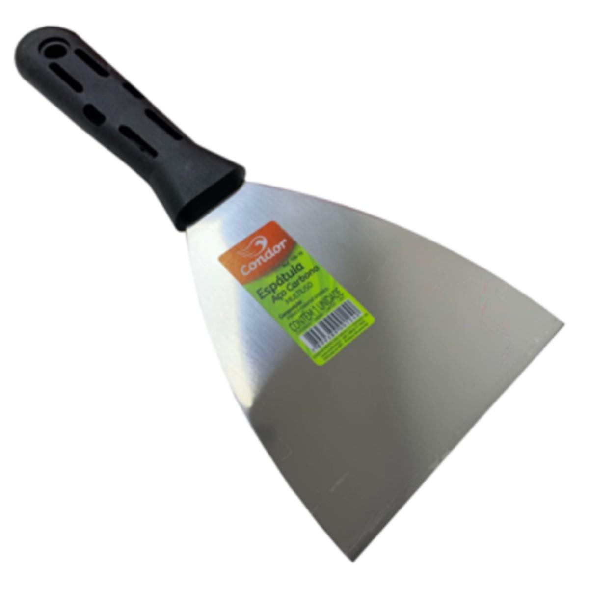 Kit 3 Espatulas Aço Carbono Plastico 08cm, 10cm e 12cm
