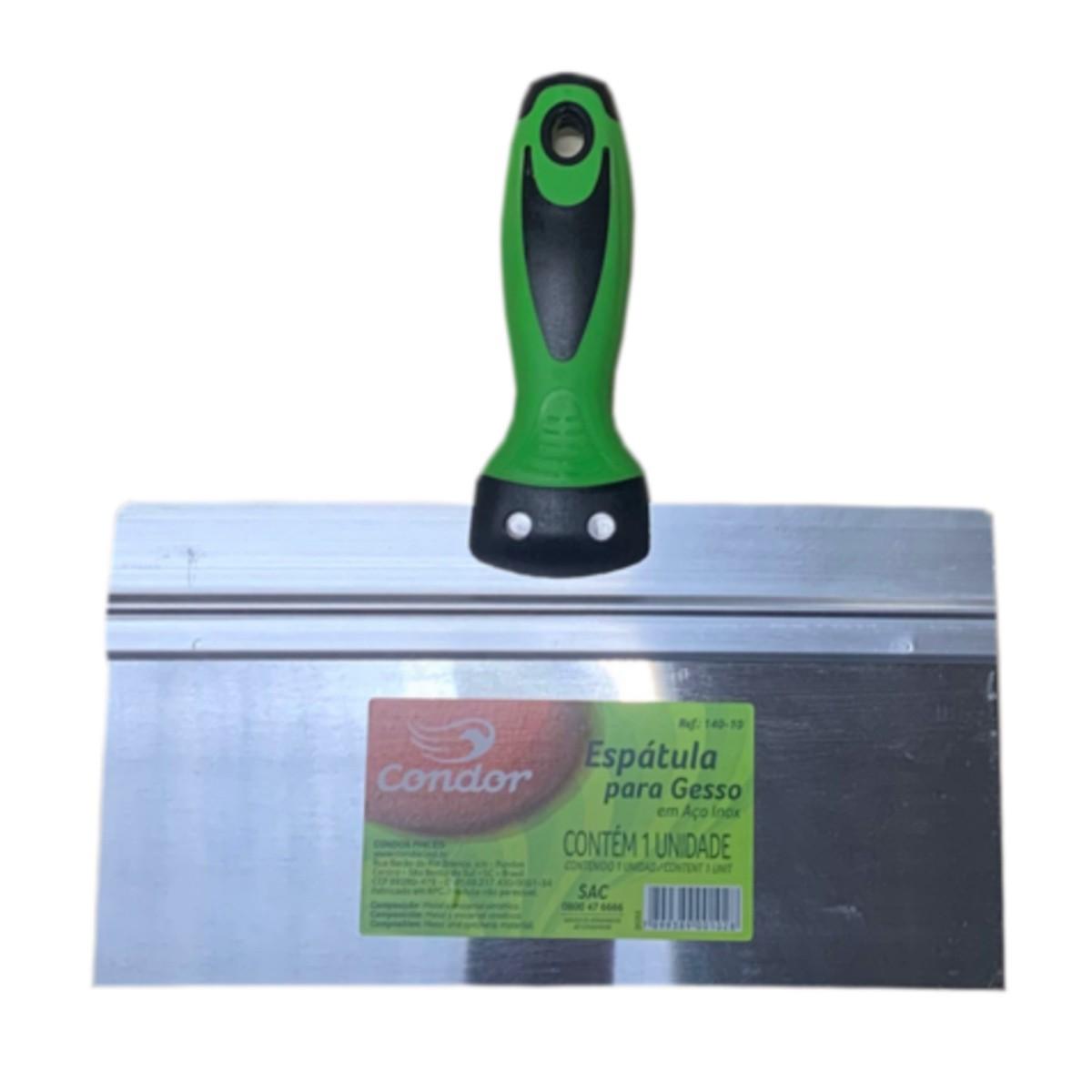 Kit 3 Espátulas Inox P/ Drywall e Massa Corrida