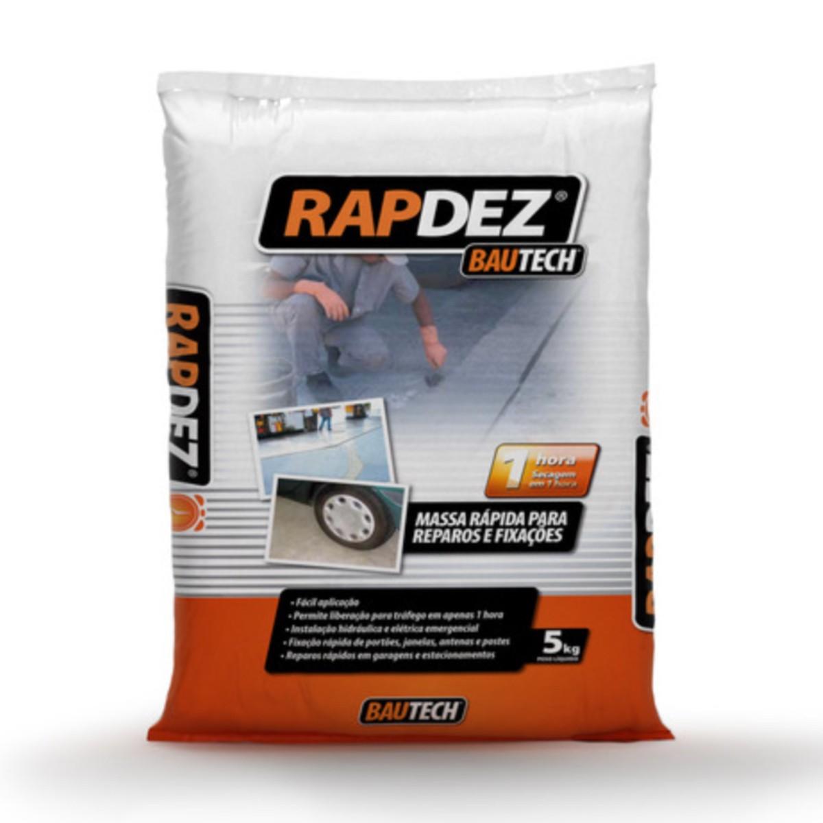 Kit 5 Argamassa Reparos Rapido Rapdez Bautech 5kg