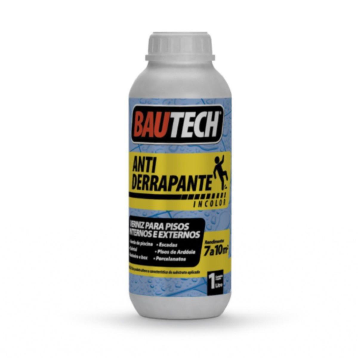 Kit 6 Verniz Antiderrapante Bautech 1L
