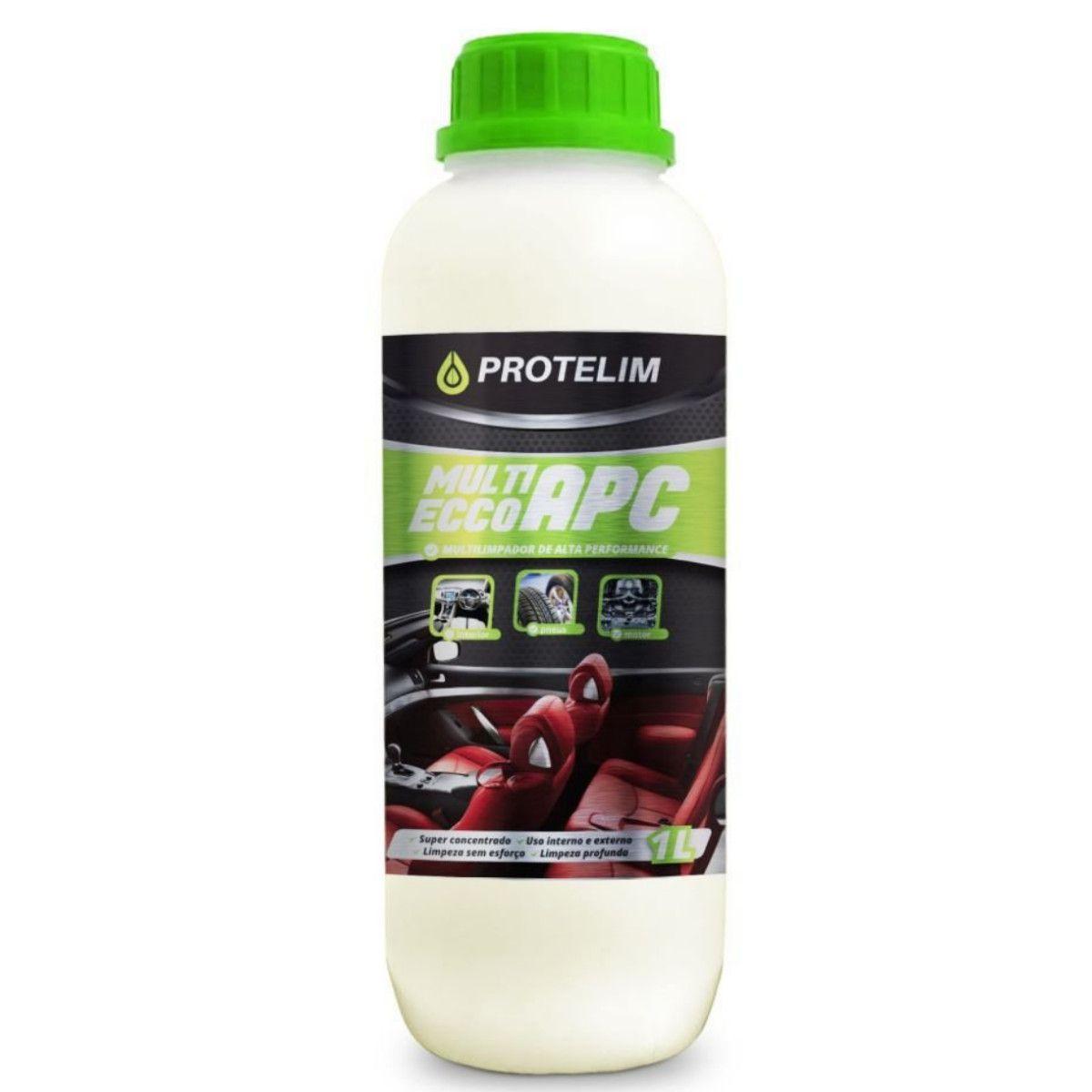 Kit Detalhamento Automotivo Apc 1 Litro + Limpa Pneus Hidratante Pretinho 500ml