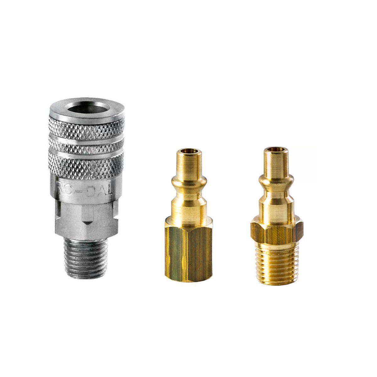 Kit Engate Rápido + Mangueira Ar Compressor 5/16 X 25 Mt