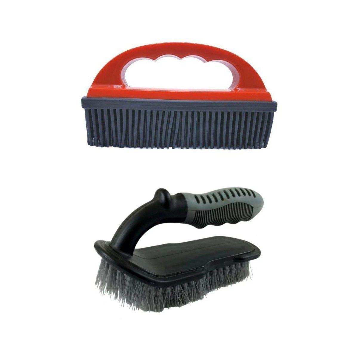 Kit Escovas Para Lavagem Automotiva Em Geral + Lâmina de Secagem