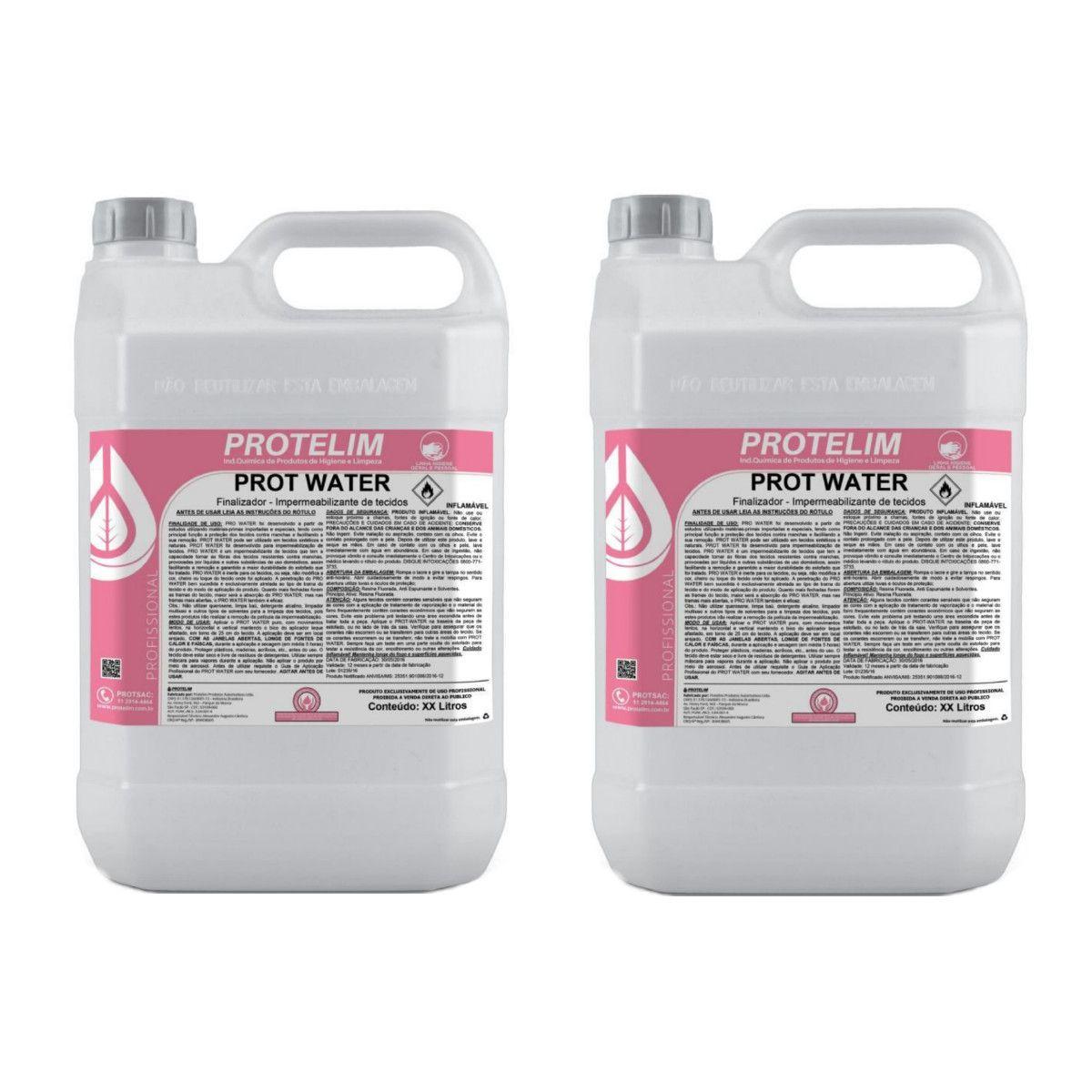 Kit Impermeabilizante para Estofado e Tecido Prot-Water Protelim 10 Litros
