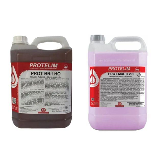 Kit Prot brilho 5 Litros + Prot multi200 5 Litros Protelim