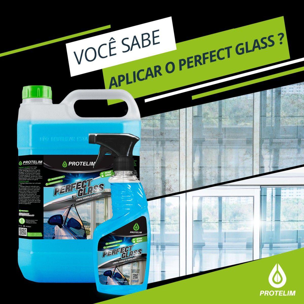 Kit Protelim Prot Vidro Perfect Glass + Pano Limpa Vidro