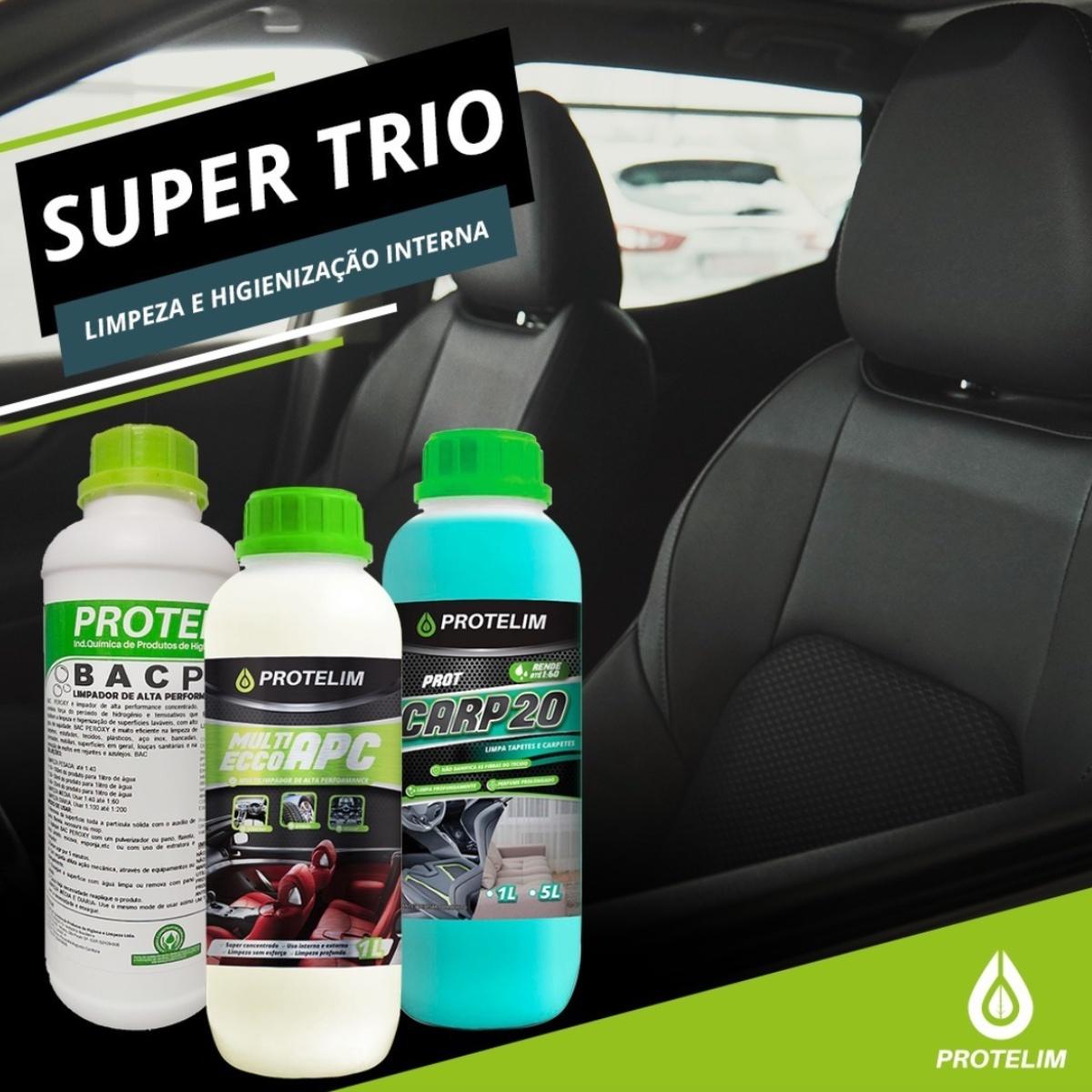 Kit Super Trio Protelim APC, Prot Carp 20 e Bac Peroxy