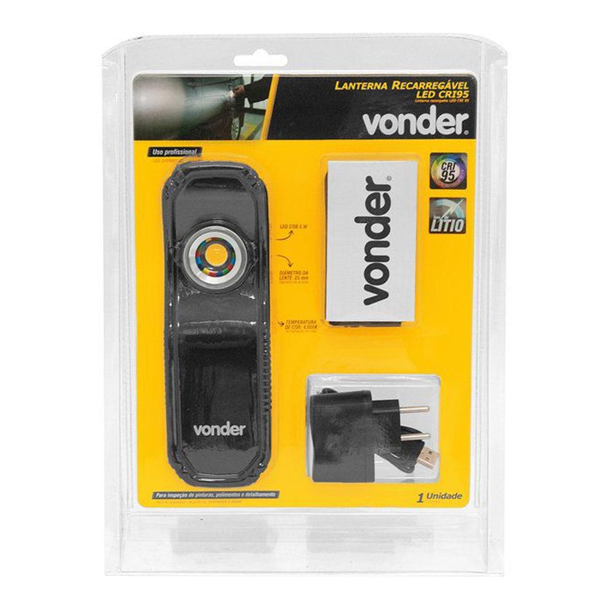 Lanterna de Inspeção LED Recarregável Bivolt 400LM Vonder