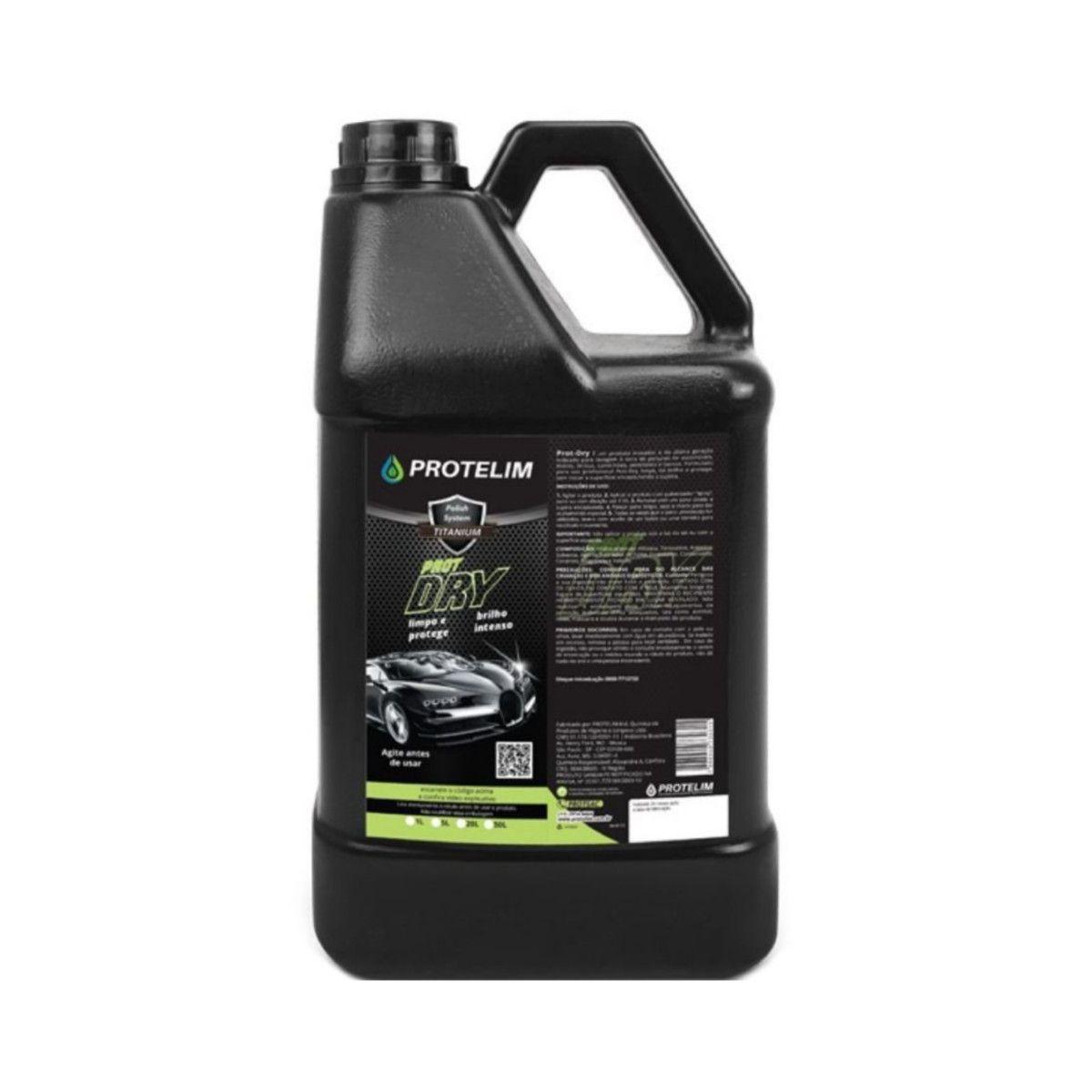 Limpador A Seco Prot-Dry Protelim 5L + Desengraxante Mult 200 5L Protelim