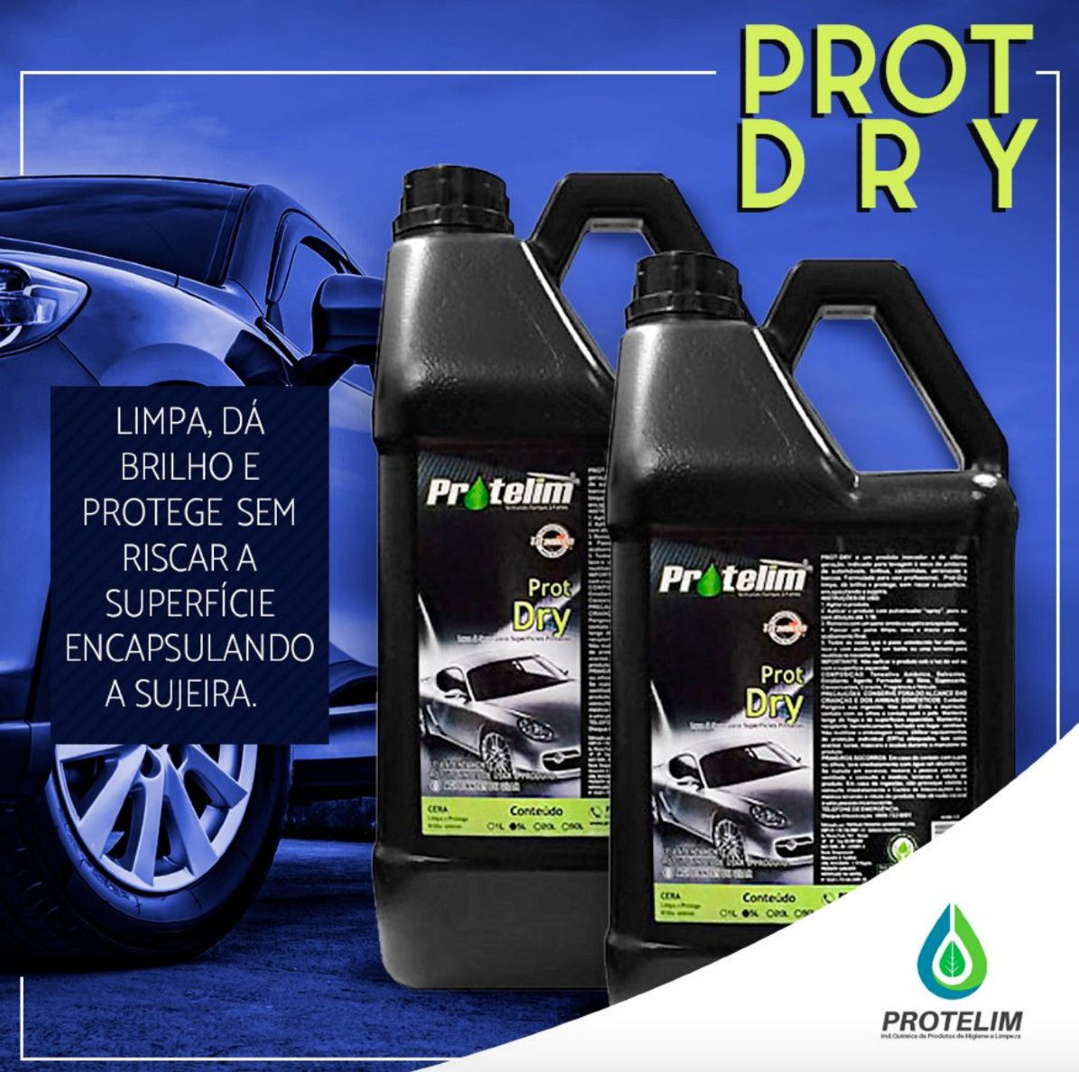 Lava A Seco Prot-dry 5l + Prot Multi 100 Multiuso Concentrado 5l Protelim