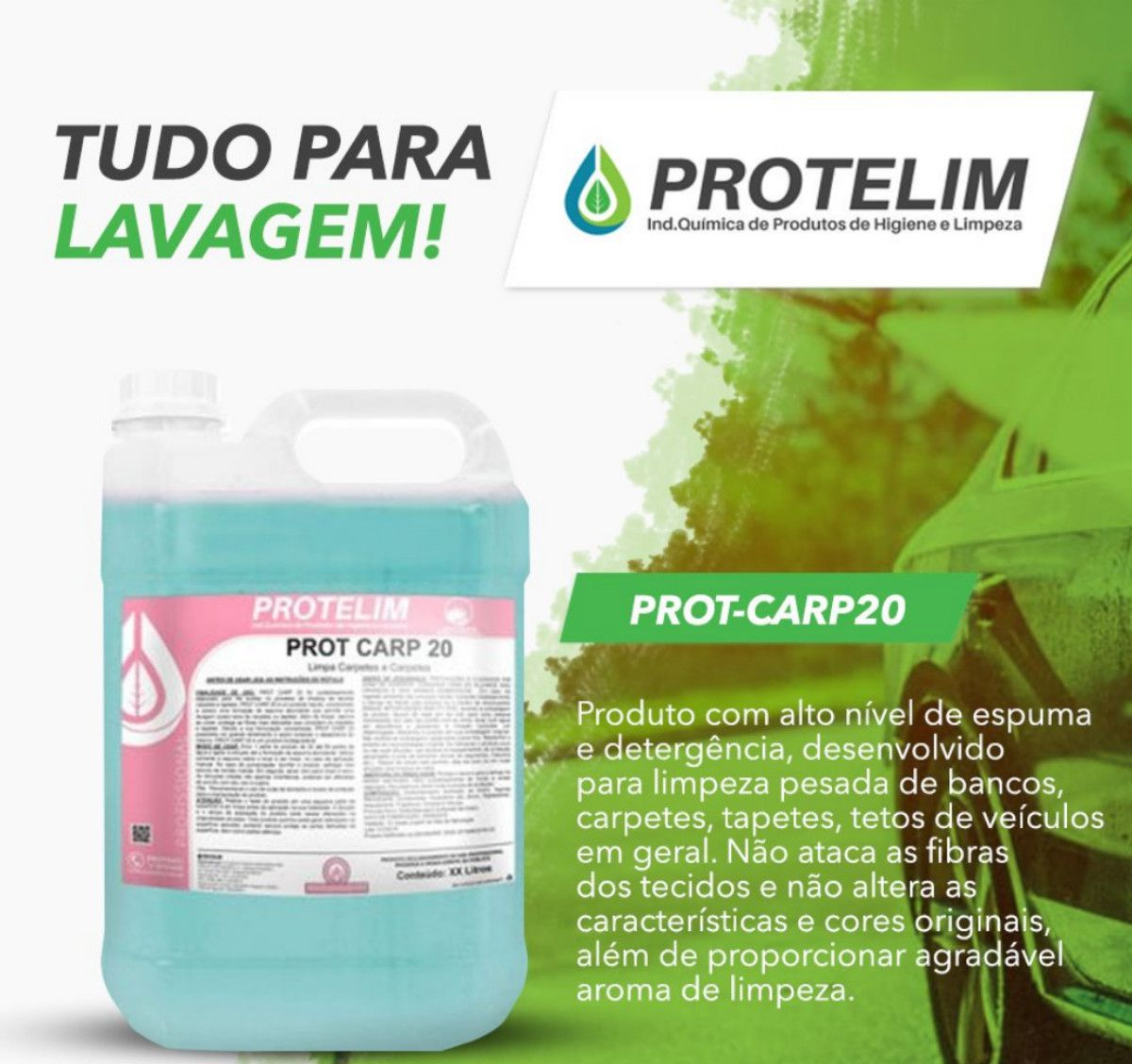 Limpa Carpete Estofados Prot carp-20 Protelim 5 Litros 4 Uni