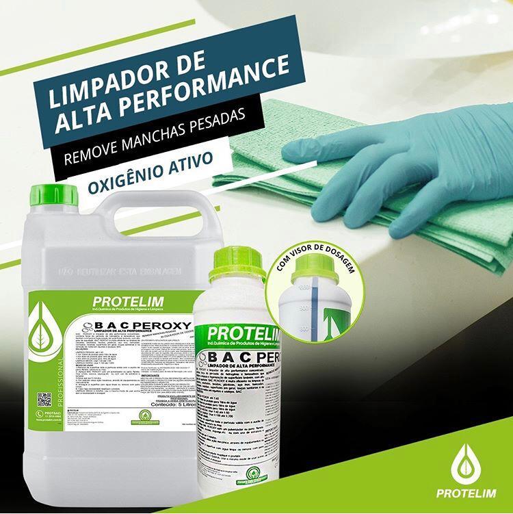 Limpador de Alta Performance Protelim Bac Peroxy Detalhamento Automotivo 1 Litro