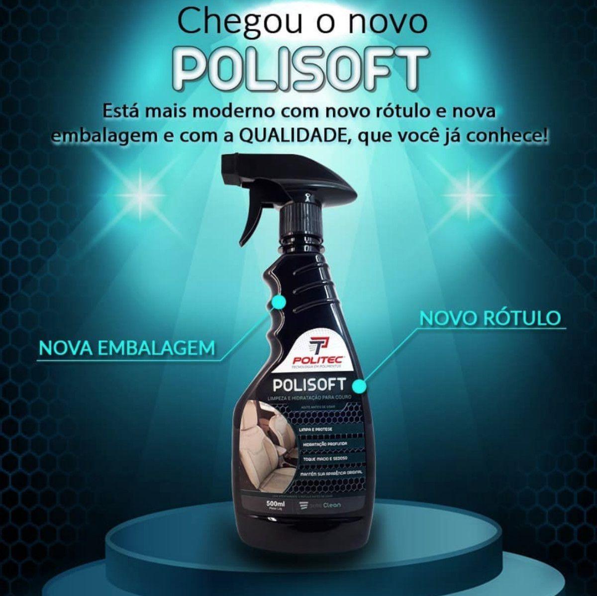 Limpeza e Hidratação para Couros Polisoft 500ml
