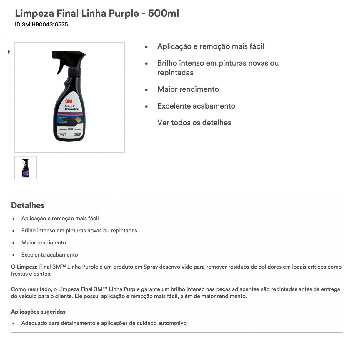 Limpeza Final Perfect-it 500ml 3m O Melhor Preço