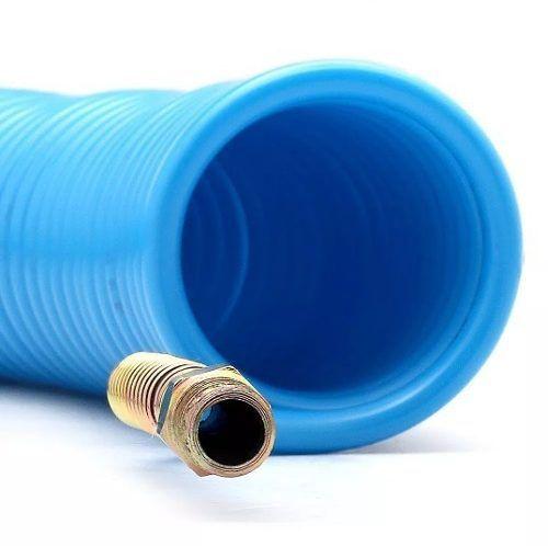 Mangueira Espiral Em Poliamida Azul De 15 Metros - 1/4 Pol - Arcom
