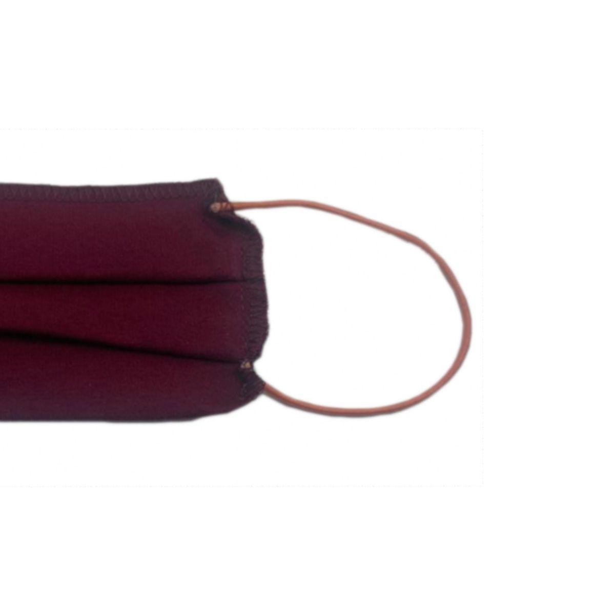 Máscara Reutilizável Proteção Respiratória Lavável Vermelho
