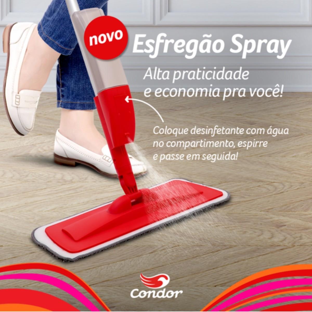 Mop Spray Esfregão C/ Reservatório (BRINDE Refil Microfibra)