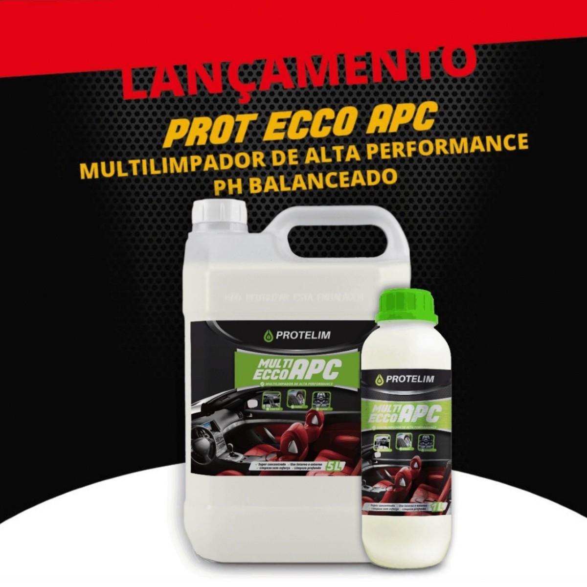 Multilimpador de Alta Performance Protelim APC Multi Ecco Detalhamento Automotivo 5 Litros