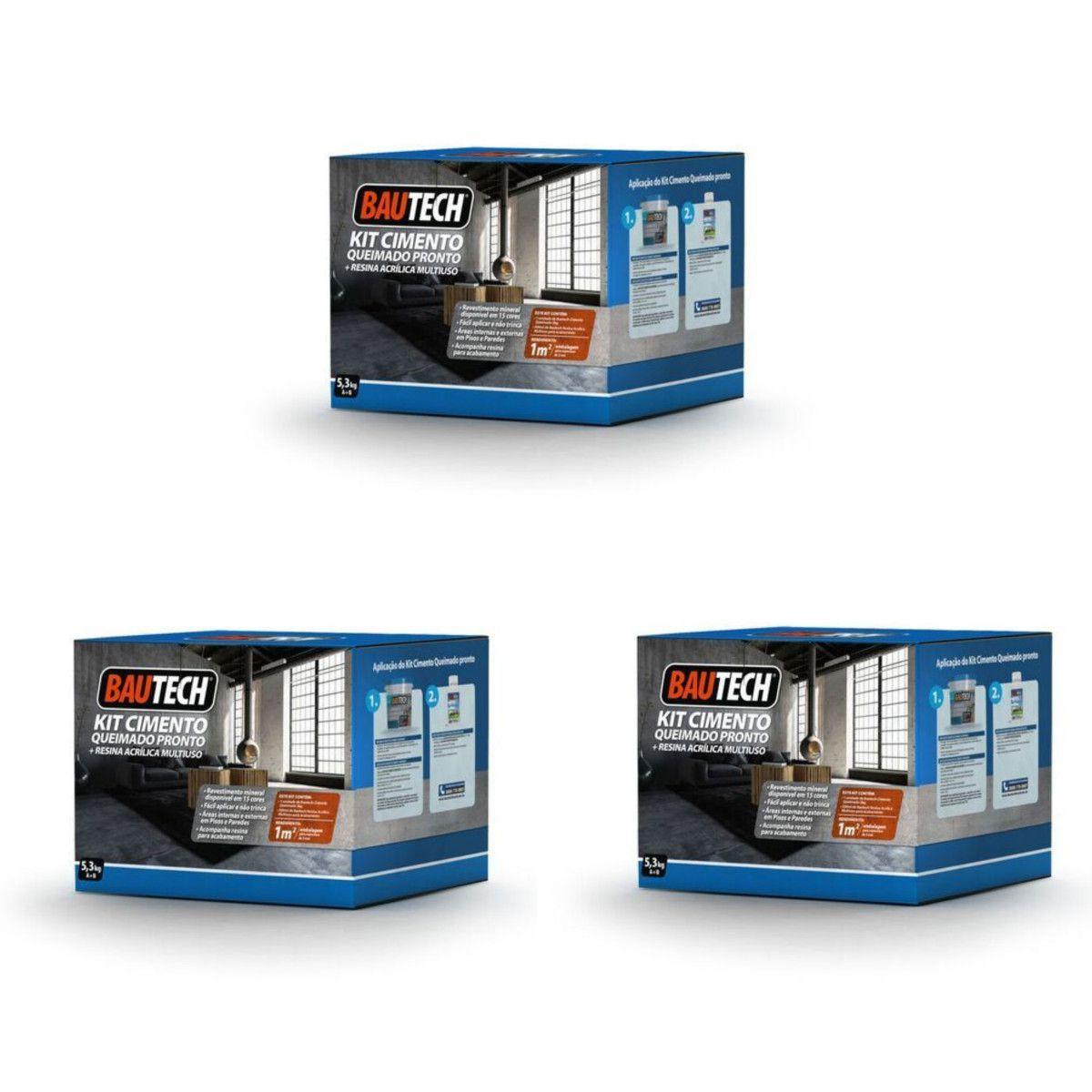 Nova Embalagem Cimento Queimado 5,3kg (3 Unidades) - Bautech