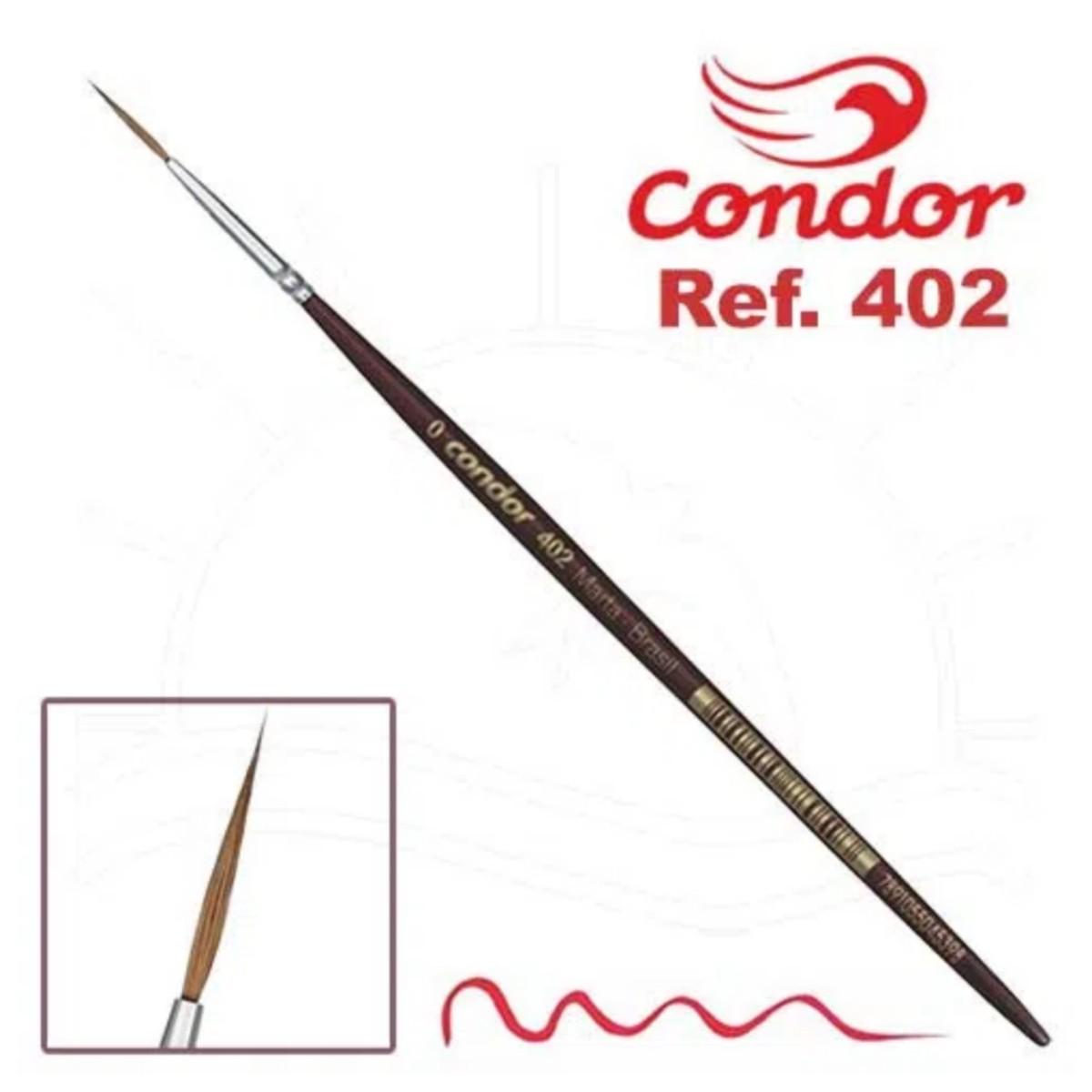 Pincel Condor Liner 402 Longo Pelo De Marta Letrista T.0