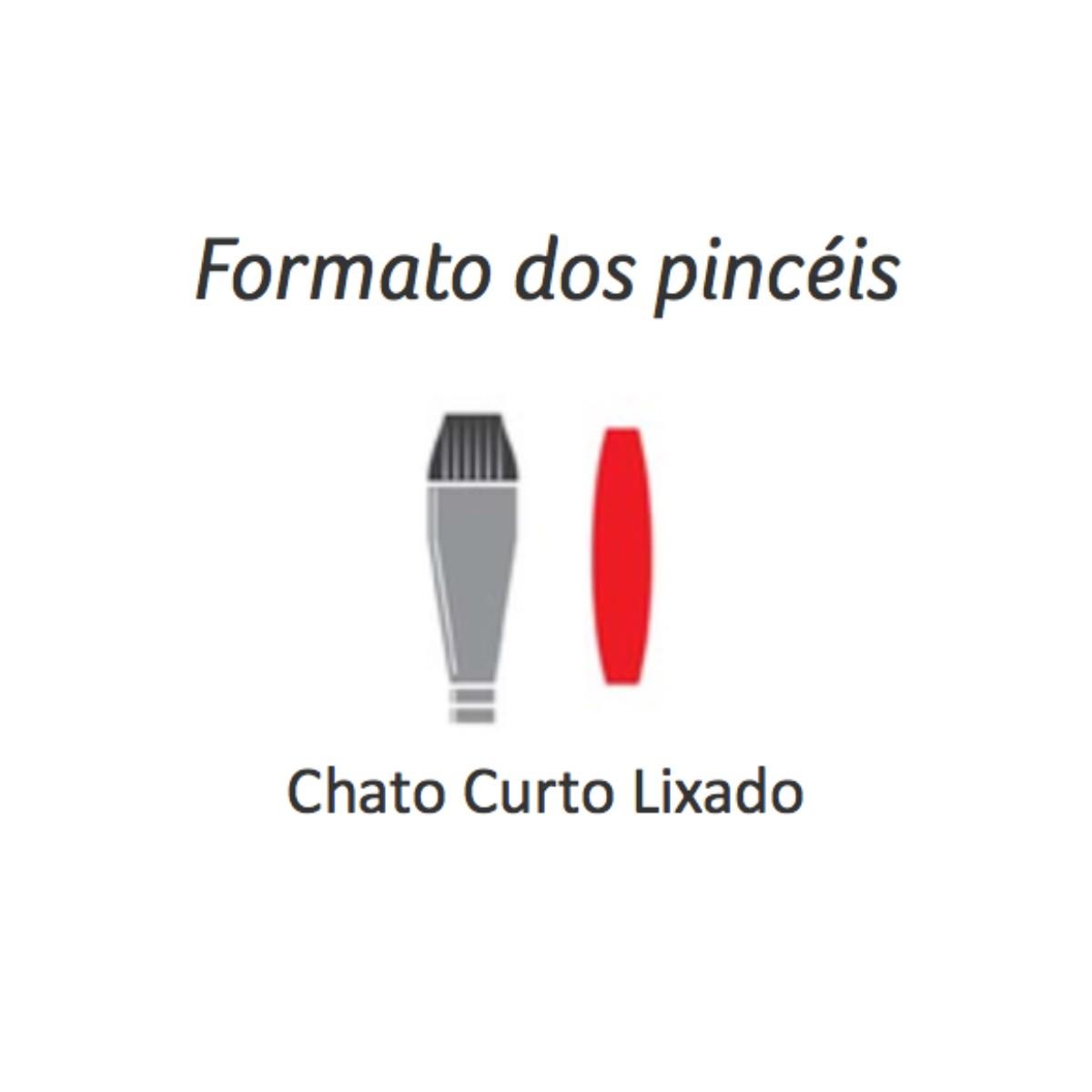 Pincel Série 454 Chato Curto Lixado Condor 2