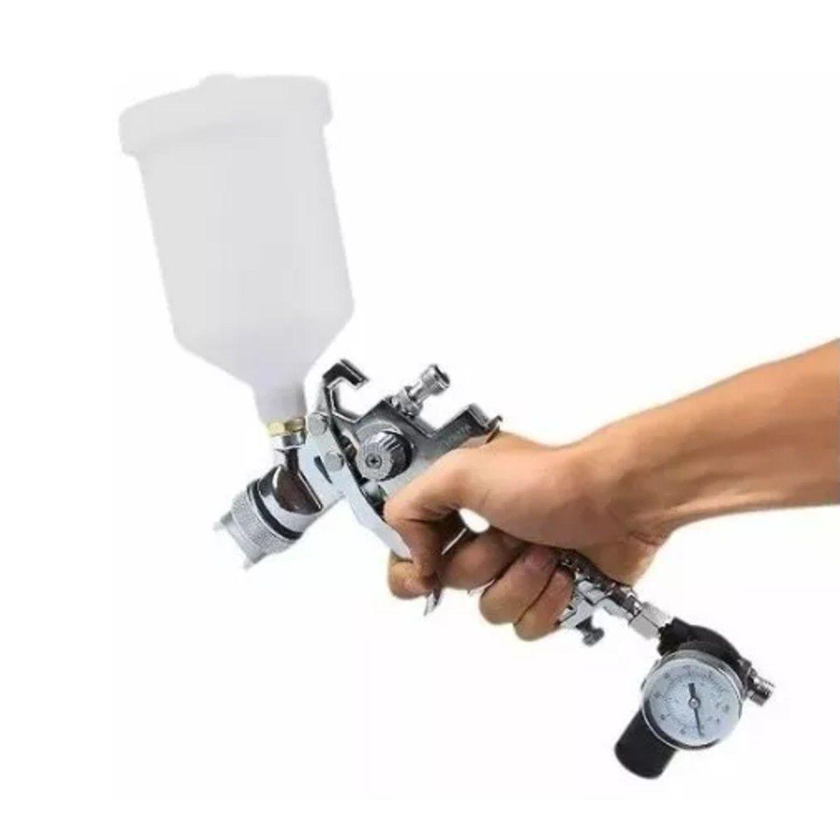 Pistola De Pintura Hvlp Bico 1,4 E 1,7 Mm Caneca 600ml Arcom