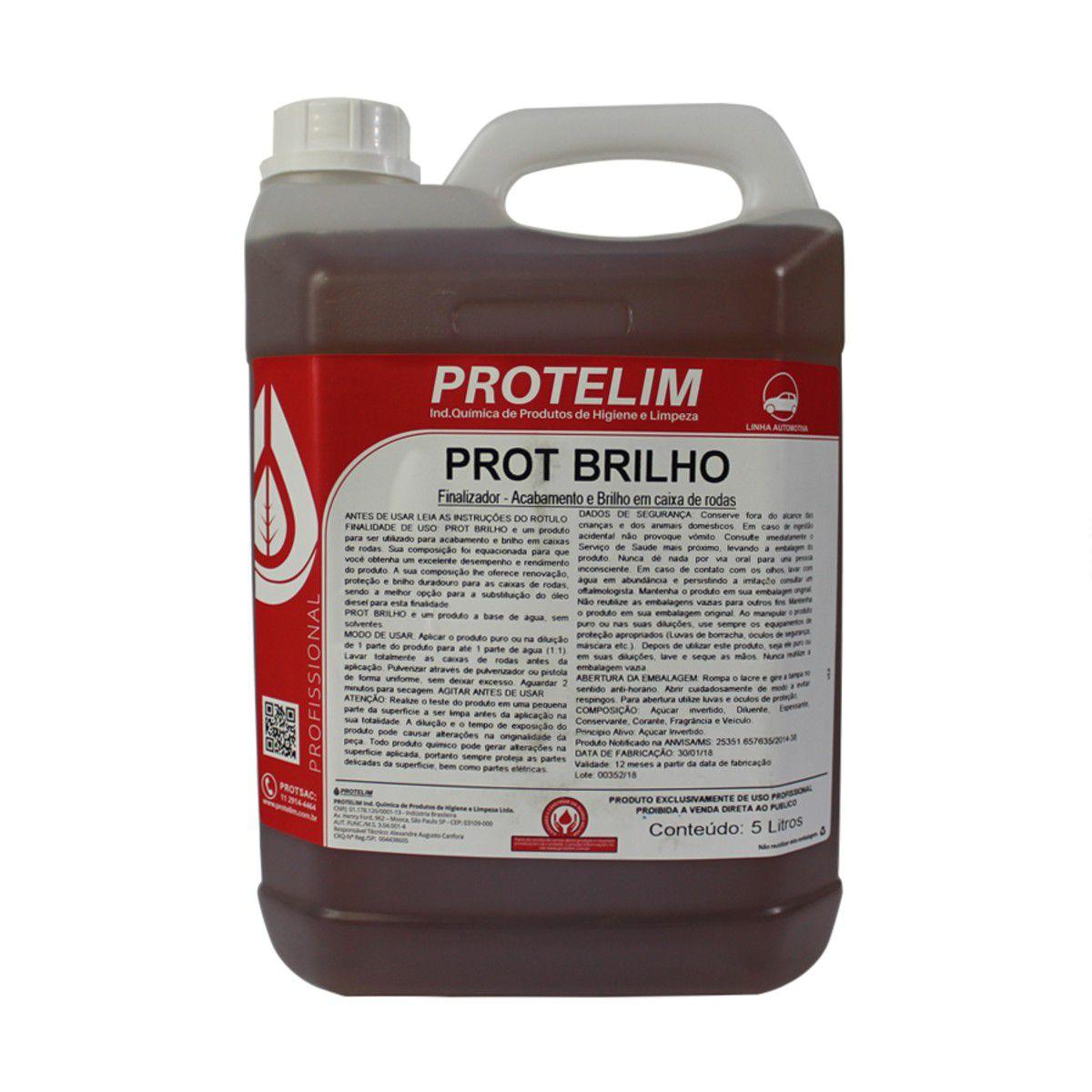 Prot Brilho 5l Protelim + Escova De Caixa De Roda