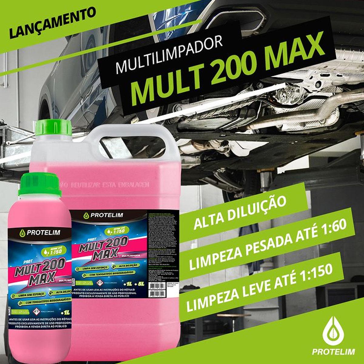 Prot Mult200 Max Desengraxante Alcalino Limpador Multiuso 1L