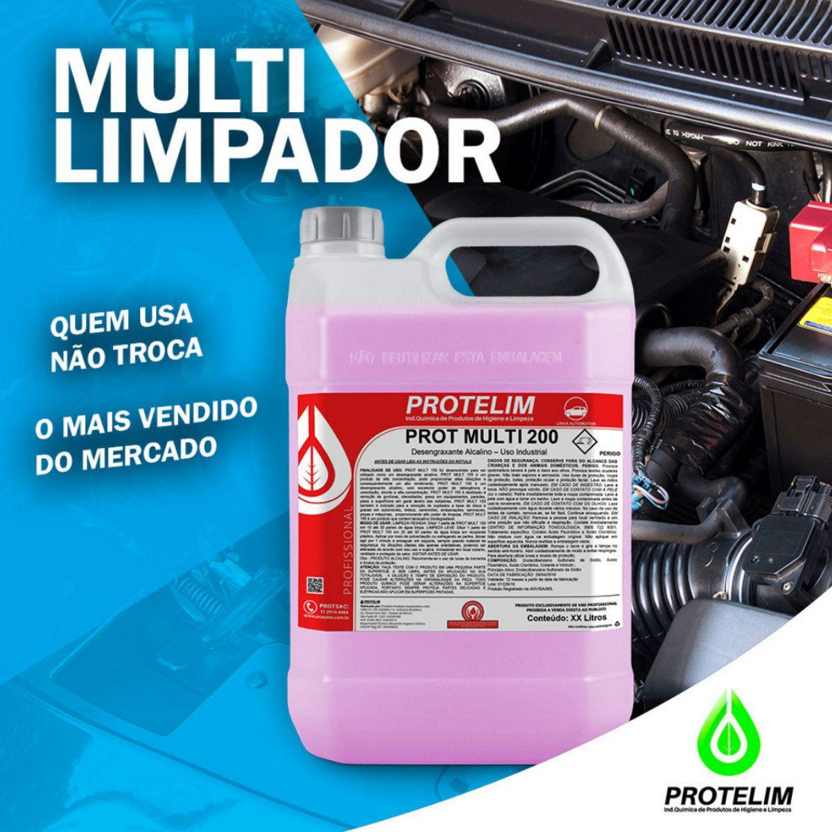 Prot Mult 200 + Pincel Cabo Longo Para Limpeza Automotiva 2
