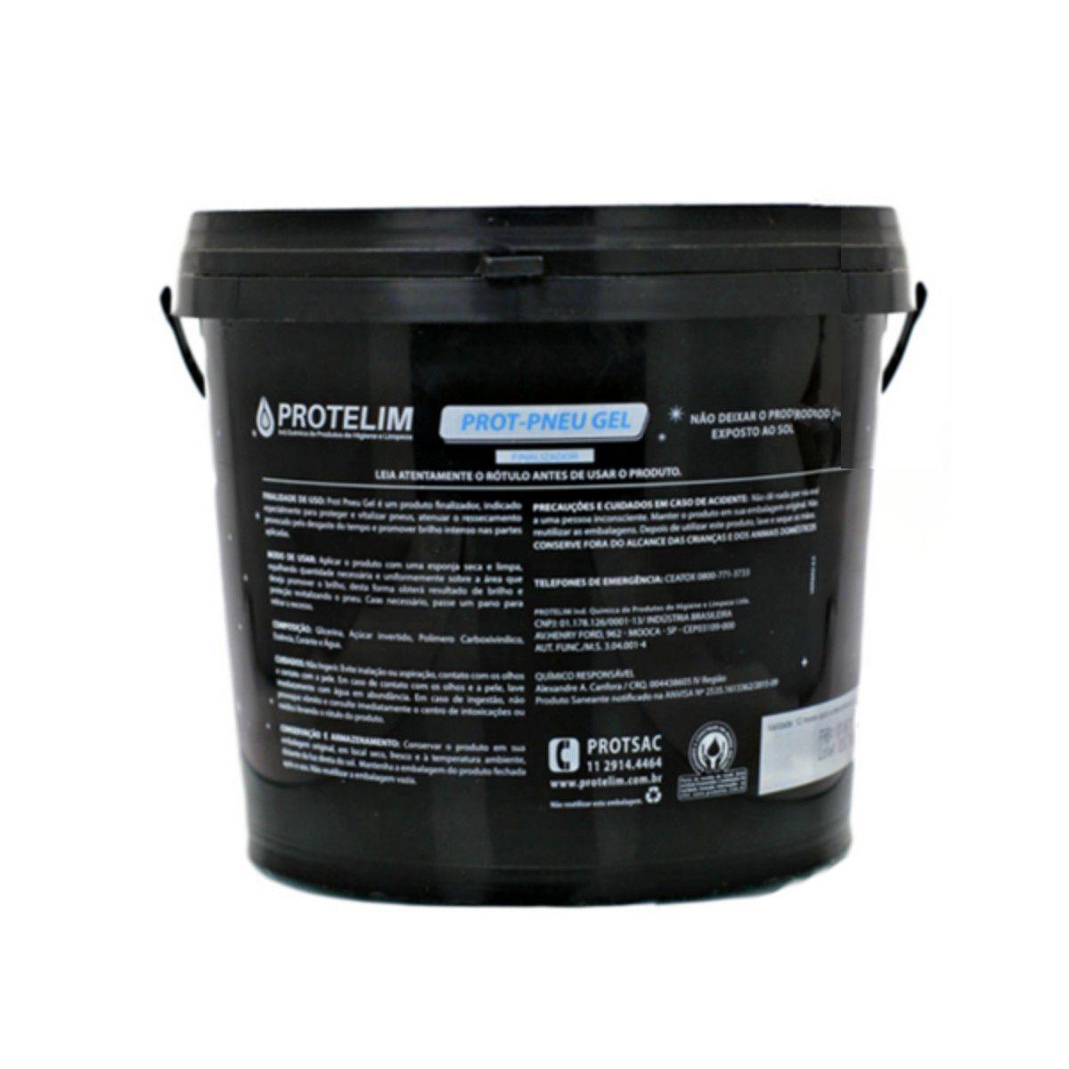Prot Pneu Gel Protelim  Limpa Pneu 3,6kg