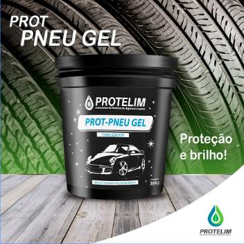 Prot Pneu Gel Protelim 3,6kg - Brinde Aplicador De Pretinho