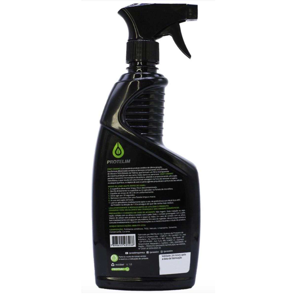 Proteção Hidrofóbica (Repelente de Água) Coat Ceramic 600ml