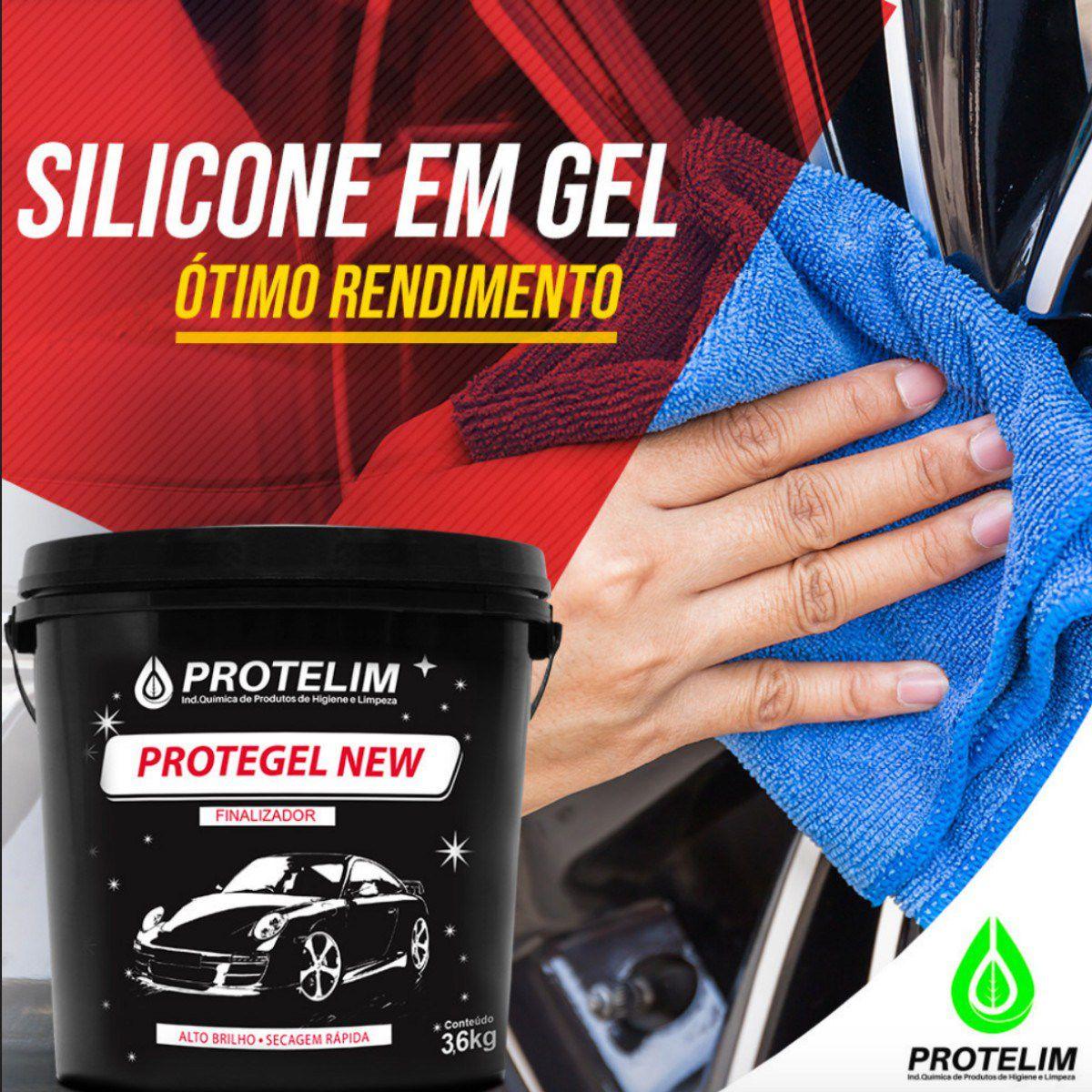 Silicone Gel Protegel New Finalizador Uso Externo 3.6kg Protelim