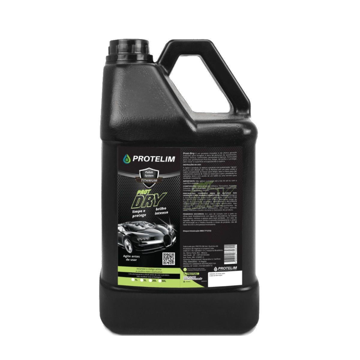 Limpador A Seco Prot-Dry Protelim 5l Limpeza Ecológica