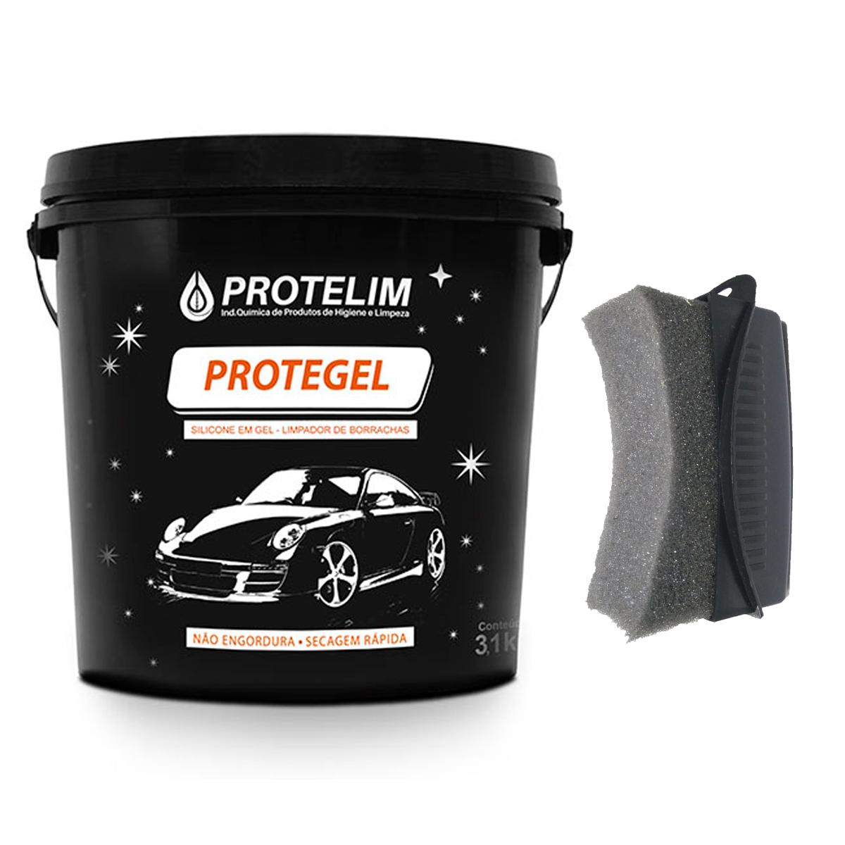 Protelim Protegel 3,1l Super Silicone Em Gel Alto Rendimento + Brinde Aplicador Pretinho