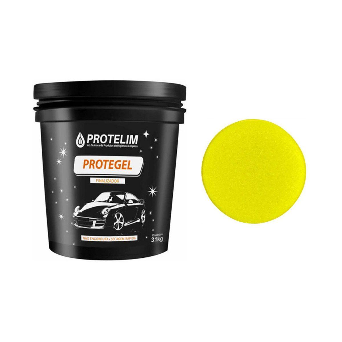 Protelim Protegel 3,1l Super Silicone Em Gel Alto Rendimento + Brinde Espuma Aplicadora