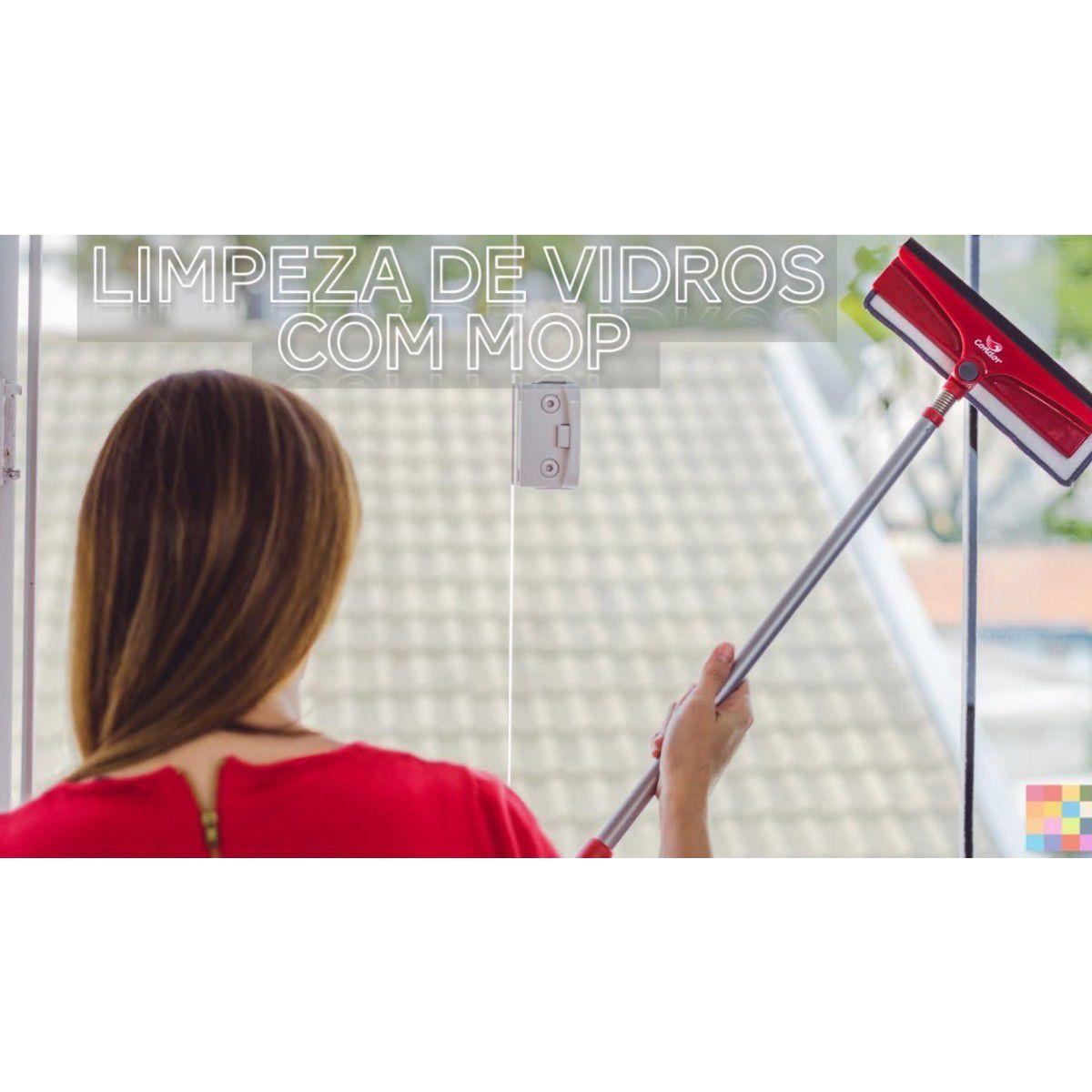 Refil Avulso Microfibra Para Rodo Limpa Vidros Condor