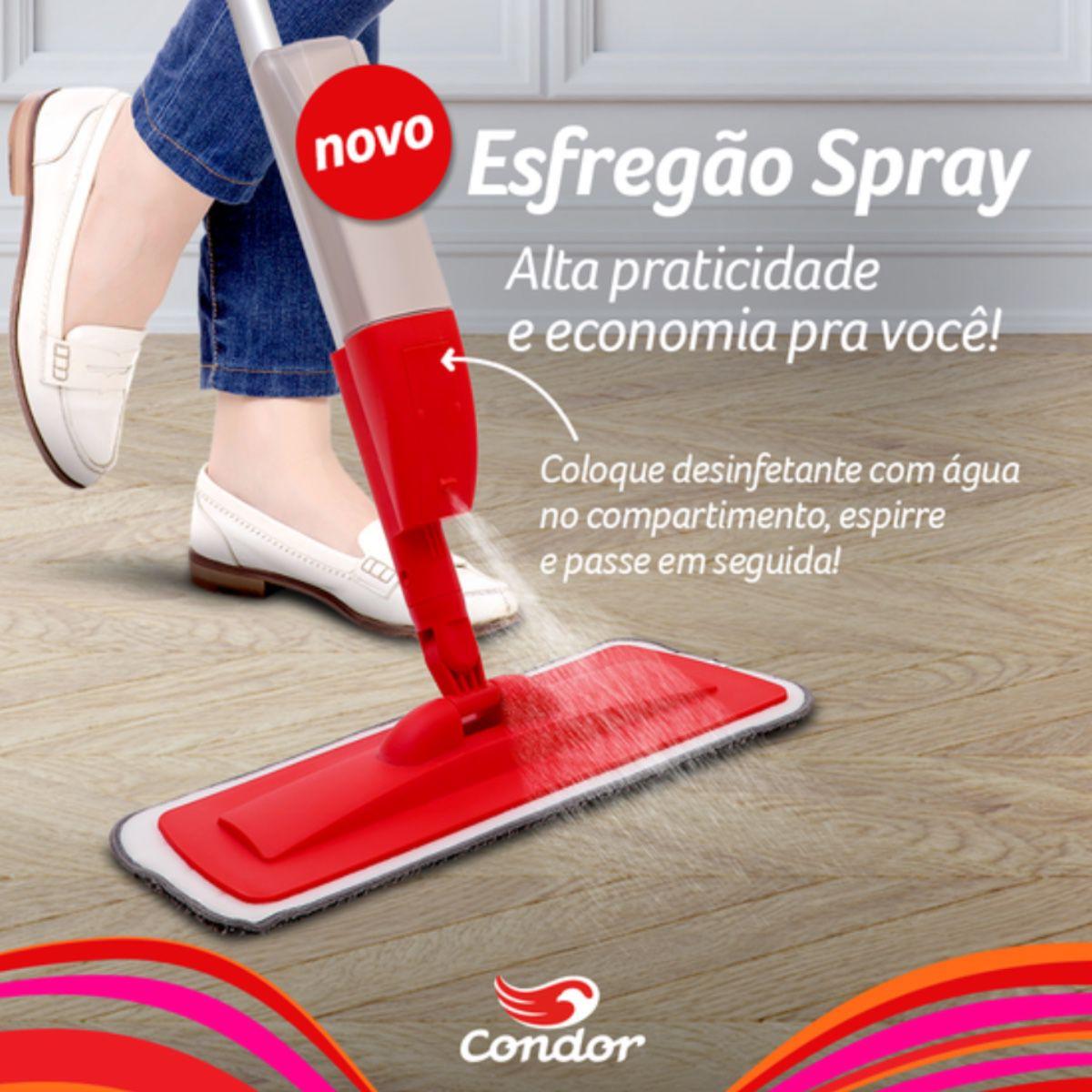 Refil Vassoura Mop Spray Esfregão Condor Limpa Chão Casa