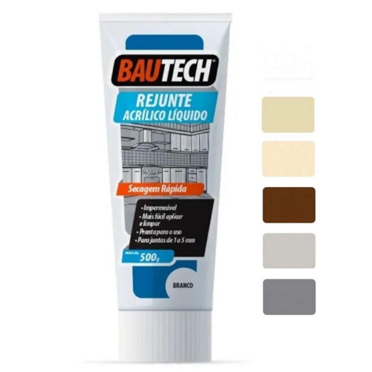 Rejunte Líquido Acrílico Pronto 470gr Bautech - Cores