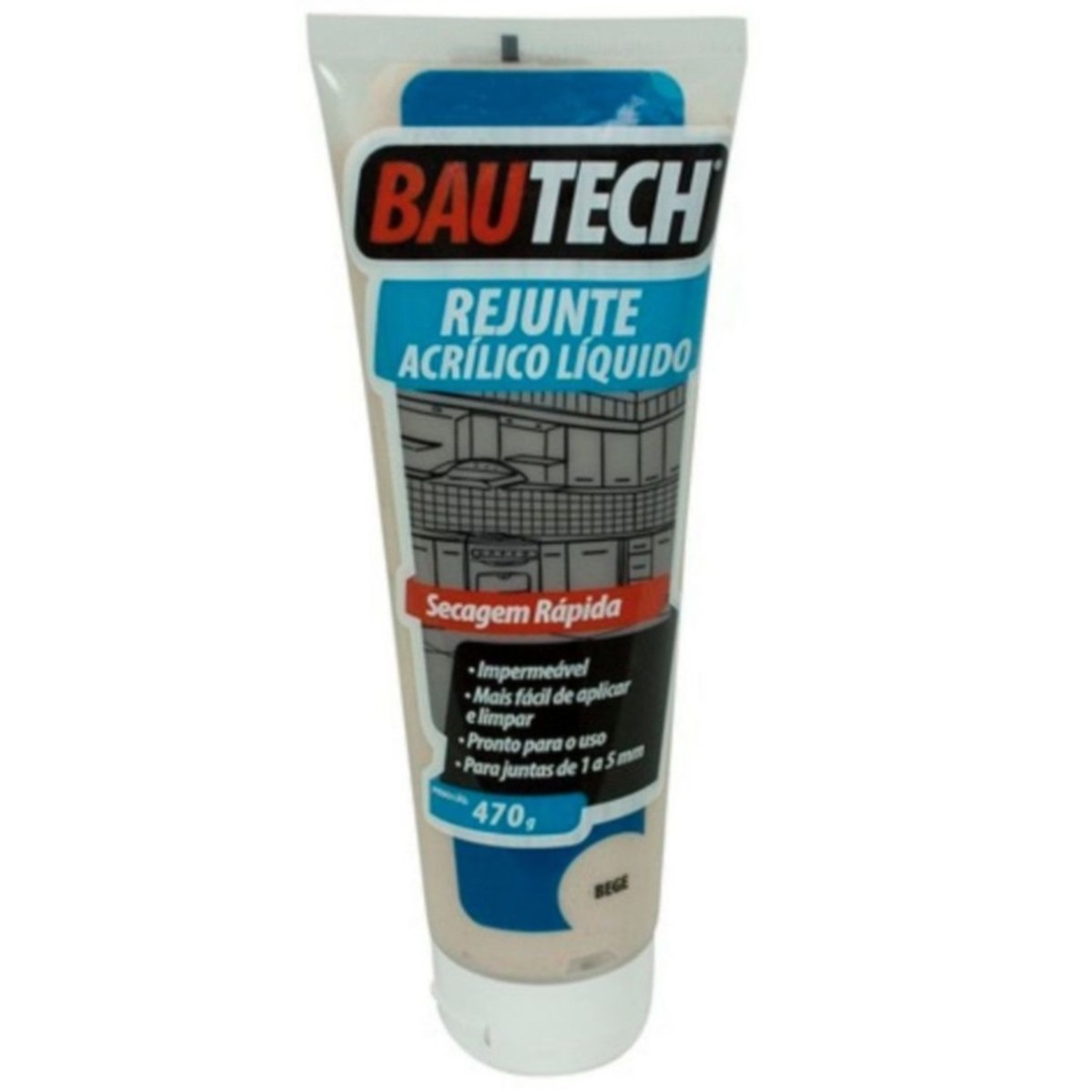 Rejunte Acrílico Liquido Bautech Bege 470g